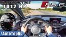 1012HP AUDI RS6 Akrapovic | Klasen Motors | 300 km/h AUTOBAHN POV by AutoTopNL