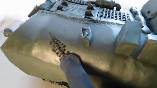 Самый лучший танк из пластилина