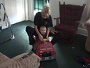 Jackson and Mommy on his new powerwheels