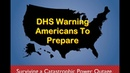 DHS Warning Americans To Prepare