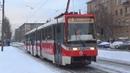 Трамвай Tatra-KT3R Кобра №30699 с маршрутом №14 Метро Октябрьская - Метро Университет