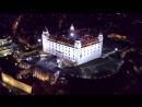 Bratislava night flight 4k