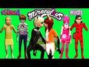 THE SIMS 4 Miraculous Ladybug NAUGHTY KIDS HAVING FUN