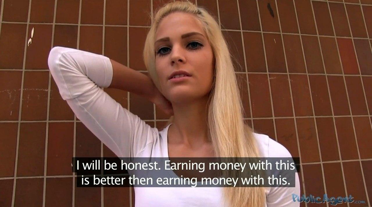 PublicAgent E317 Candee Licious Блондинка с сочной попкой в публичном порно