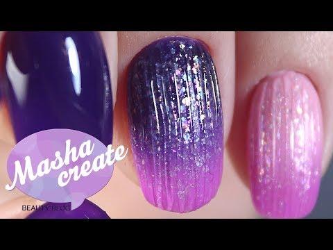 Фиолетовый маникюр с fox masha create Градиент на ногтях гель лаками Модный дизайн ногтей 2018