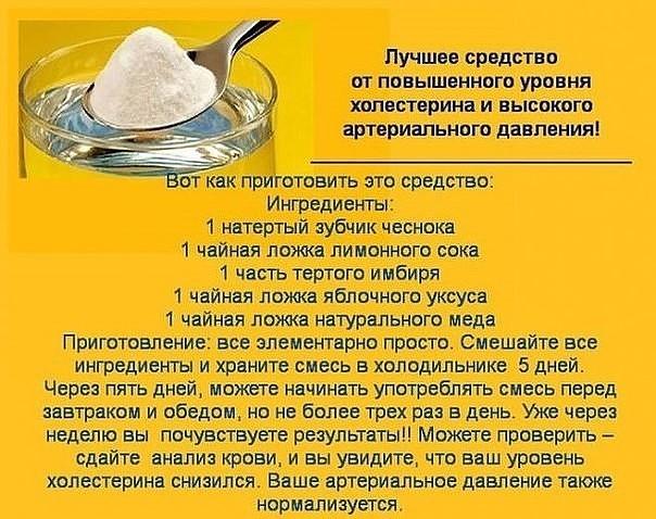 Рецепт от высокого холестерина