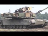 U-S Soldiers use M1 Abrams tanks to fire at targets while on the move. !!