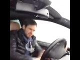 С Машей у Сережи в машине:DD