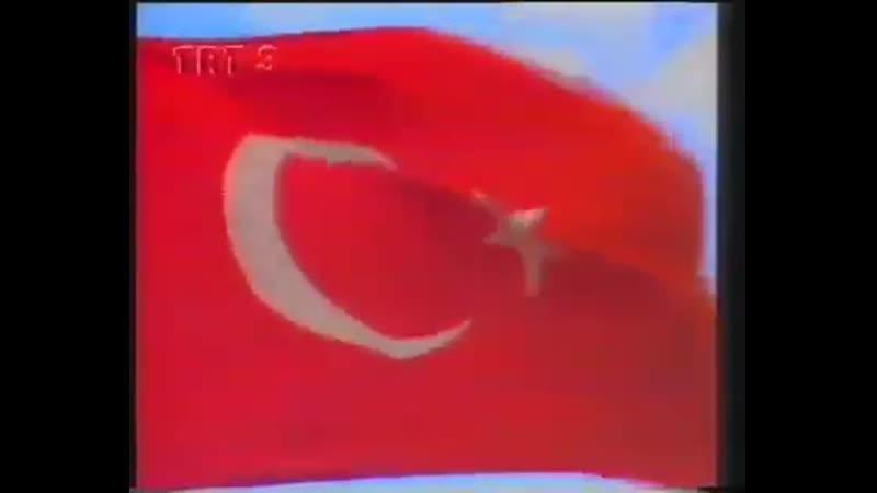 Заставка, программа передач и конец эфира (TRT 3 [Турция], 04.10.1996)