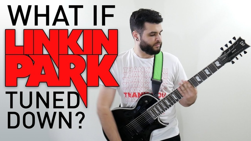 What If Linkin Park Tuned Down? (8 String Guitar Linkin Park Guitar Riff Compilation)