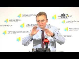 Andriy Sadovyi. Ukrainian Сrisis Media Center. May 20, 2014