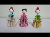3D Paper Dolls - Asian Folk Dolls