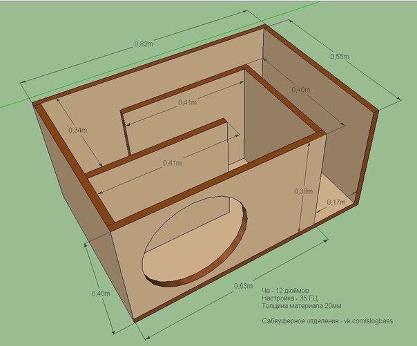 Как собрать коробку для сабвуфера
