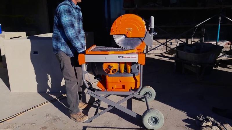 Worlds First 16.5 Dust Control Masonry Saw the iQMS362™ | Dry Cut Dust Free Masonry Saw