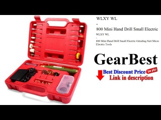 WLXY WL - 800 Mini Hand Drill Small Electric Grinding Suit Micro Electric Tools - gearbest.com