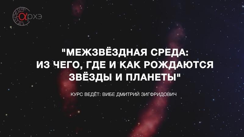 Дмитрий Вибе: Межзвездная среда и звездообразование