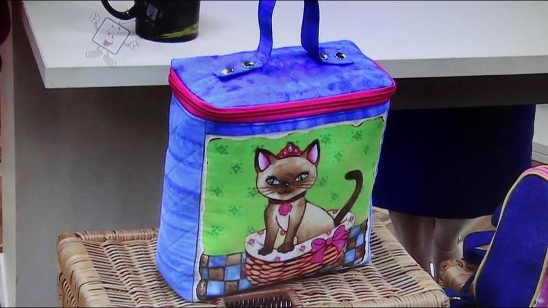Bolsa frasqueira ou necessaire Maya - Maria Adna Ateliê - Cursos e aulas de bolsas de tecido