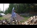 Как колоть дрова топорами fiskars видеоприкол