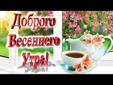 Доброе утро! Весны в душе и Счастья в сердце! Красивое пожелание для тебя!