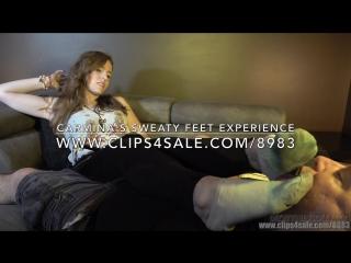 Carmina's sweaty feet experience - (dreamgirls in socks)