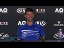 Novak Djokovic and Italian journalist after won Australian Open 2019
