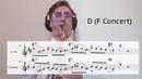 Bebop Saxophone Jazz Vocabulary Lesson Charlie Parker Lick with Articulation ii V I Tonguing