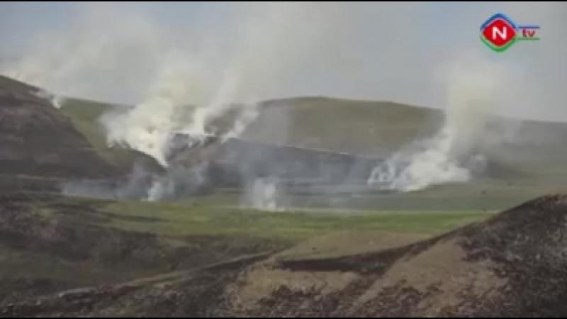 Ветер перекинул пожар с нейтралки на армянскую территорию