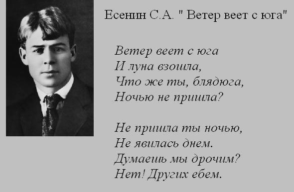 Есенин С.А. Ветер веет с юга