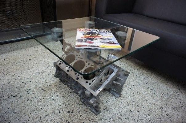 Столы из двигателя