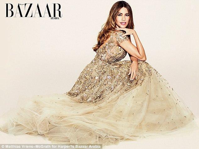 София Вергара для нового выпуска журнала Harpers Bazaar Arabia 2016
