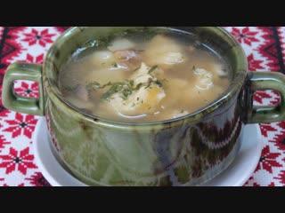 Невероятно вкусный грибной суп с клецками! Вся семья в восторге!