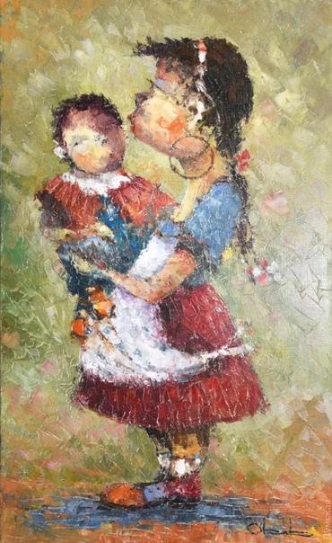 Армянский художник Овик Зограбян. Родился он в 1966 году , его отец был известный художник и скульптор в Армении и любовь к рисованию ему досталась от отца. После школы поступил в Ереванское