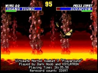 TAS Ultimate Mortal Kombat 3 GEN in 26:35 by Dark Noob & KSYLATRON