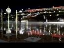 Светящиеся фонтаны на площади Славы в Самаре