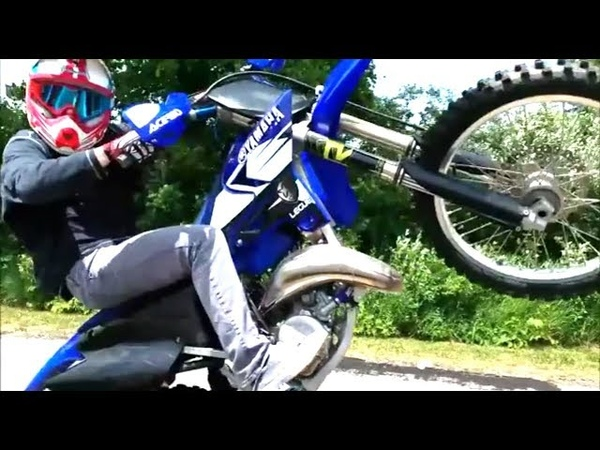 CRAZY YZ125 Rippin and Wheelies Ft. Andrew Haselhuhn