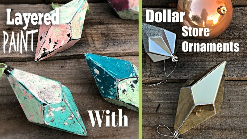 Dollar Store Christmas Ornaments transformed with Frozen Paint the story of Bobby!