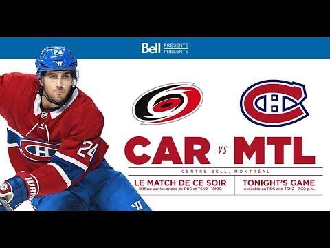 NHL 19 PS4. REGULAR SEASON 2018-2019: Carolina HURRICANES VS Montreal CANADIENS. 12.13.2018. (NBCSN)