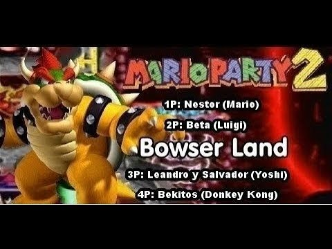 Mario Party 2 Multiplayer 4 Players Bowser Land