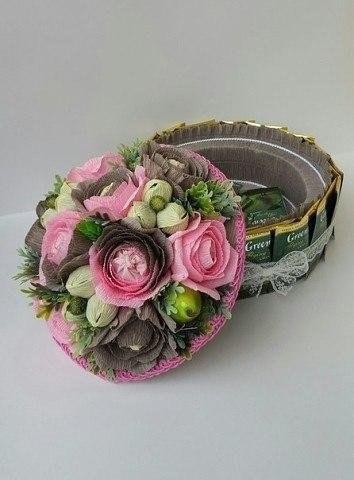 цветы из конфет для начинающих