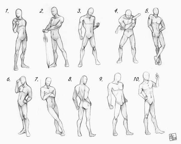 как рисовать аниме позы:
