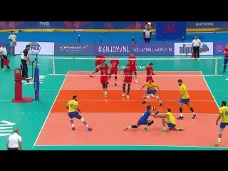 VNL Волейбольная Лига Наций - Россия-Бразилия 3