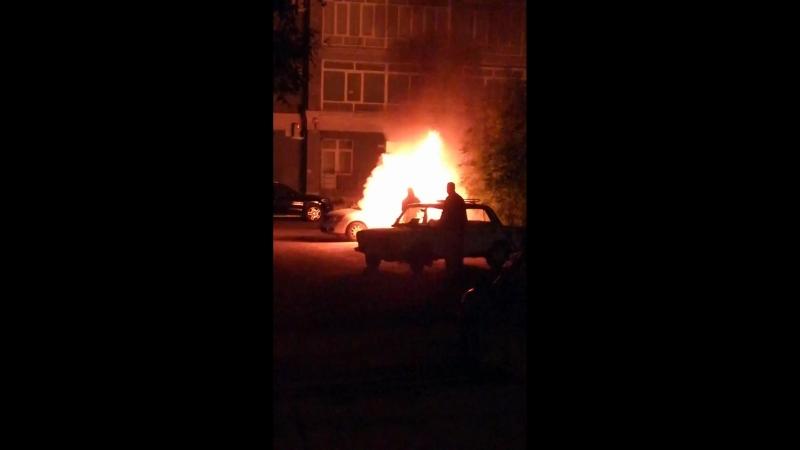 В Иванове сгорел Ниссан