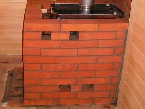 Как обложить металлическую печь в бане кирпичом