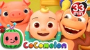 Head Shoulders Knees and Toes | More Nursery Rhymes Kids Songs - Cocomelon (ABCkidTV)