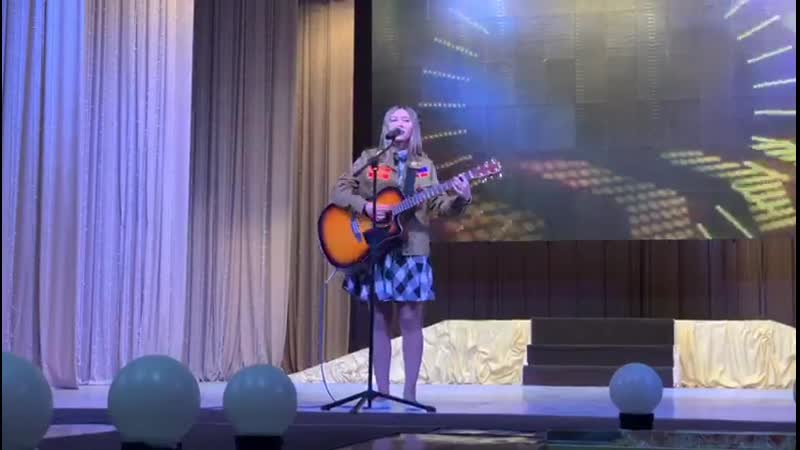 Надежда с исполнением авторской песни