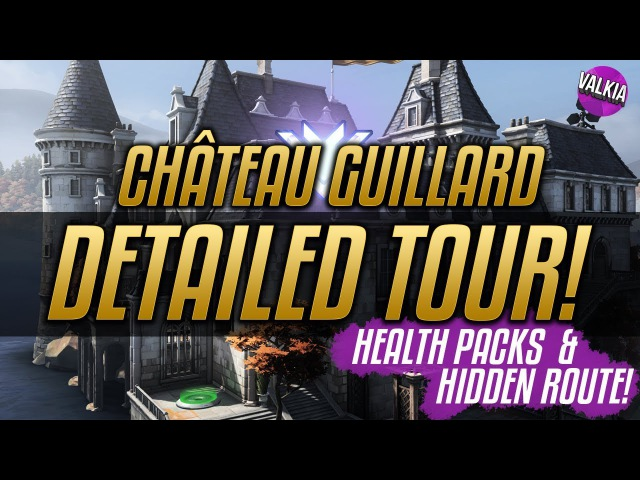 Chateau Guillard FULL MAP TOUR Hidden Route Health Packs Jump Pads Overwatch Deathmatch