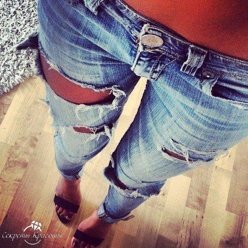 Фото девушек в рваных джинсах на аву