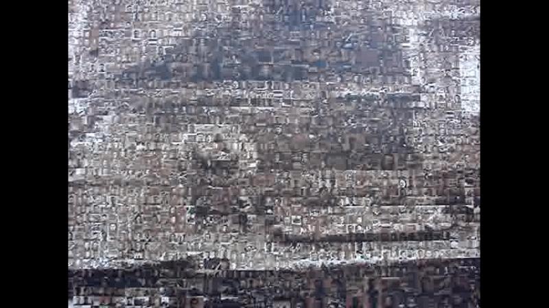 Уникальное панно Наша Победа сделано из более 15 тыс. фотографий участников Великой Отечественной войны. (Нижний Новгород)