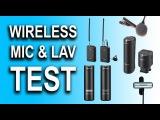 Wireless Mic and Lav Test - Sony ECM-WM1, ECM-AW4, Saramonic SR-WM4C, Audio Labs Giant Squid