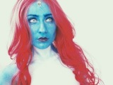 Mystique (X-Men) makeup tutorial / Мистик (Люди Икс) мейкап туториал